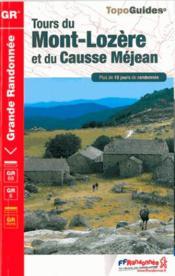 Tours du Mont-Lozère ; des Causses Méjean et du Sauveterre (édition 2014) - Couverture - Format classique