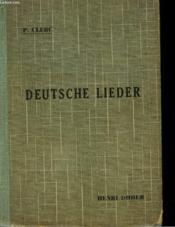 Deutsche Lieder - La Chanson Allemande - Couverture - Format classique