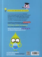 Les expériences clés des Petits Débrouillards ; l'eau - 4ème de couverture - Format classique