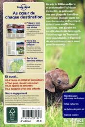 Tanzanie et Zanzibar (4e édition) - 4ème de couverture - Format classique