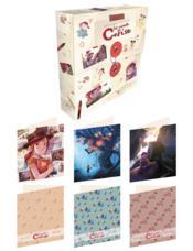 Les carnets de Cerise ; set de 12 cartes avec enveloppes - Couverture - Format classique