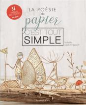La poésie de papier, c'est tout simple - Couverture - Format classique