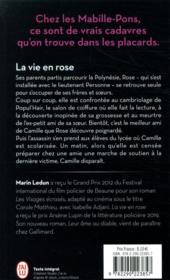 La vie en rose - 4ème de couverture - Format classique