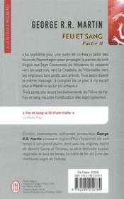 Feu & sang T.2 - 4ème de couverture - Format classique