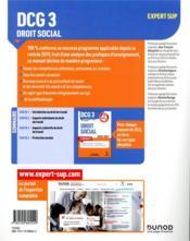 DCG 3 ; droit social ; manuel (édition 2020/2021) - 4ème de couverture - Format classique