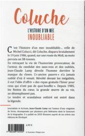 Coluche : l'histoire d'un mec inoubliable - 4ème de couverture - Format classique
