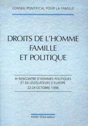 Droits De L'Homme ; Famille Et Politique - Couverture - Format classique