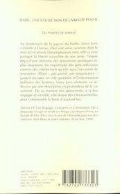 Les portes de damas - 4ème de couverture - Format classique