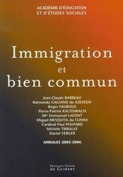 Immigration et bien commun - Intérieur - Format classique