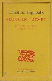 Malcolm Lowry - Couverture - Format classique