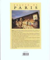 Beauté de Paris - 4ème de couverture - Format classique