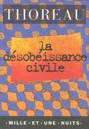 La desobeissance civile - Intérieur - Format classique