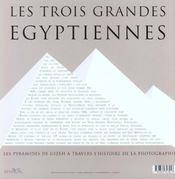 Trois grandes egyptiennes reimpression - 4ème de couverture - Format classique