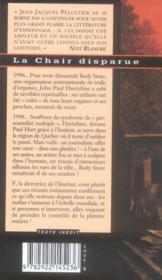 La chair disparue - 4ème de couverture - Format classique