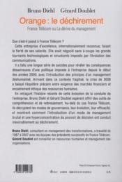 Orange : le déchirement ; France Télécom ou la dérive du management - 4ème de couverture - Format classique