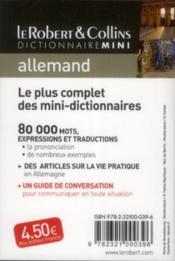 Dictionnaire mini ; le Robert & Collins allemand - 4ème de couverture - Format classique
