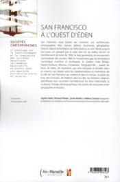 San Francisco A L Ouest D Eden - 4ème de couverture - Format classique