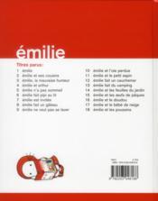Emilie et les poussins - 4ème de couverture - Format classique