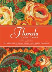 30 Postcards Collier Campbell Floral /Anglais - Couverture - Format classique