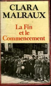 La Fin Et Le Commencement. - Couverture - Format classique