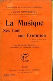 La Musique. Ses Lois, Son Evolution. Collection : Bibliotheque De Philosophie Scientifique. - Couverture - Format classique