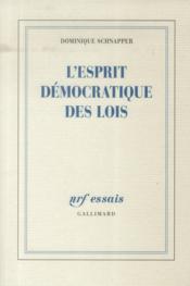 L'esprit démocratique des lois - Couverture - Format classique