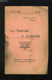 Bulletin Des Groupes Feministes De L Enseignement Laique N° 55. Avril 1930. Le Travail A Domicile. - Couverture - Format classique