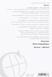 Revue Internationale De Politique Comparee N.2014/2 - 4ème de couverture - Format classique