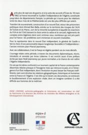 L'Algérie indépendante (1962-1963) - 4ème de couverture - Format classique