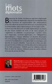 Les mots de la diplomatie - 4ème de couverture - Format classique