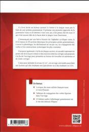 Introduction a la grammaire russe ; A1/A1+ - 4ème de couverture - Format classique