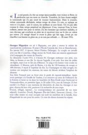 Ma chère Marie-Thérèse ; journal du front 1914-1917 et correspondances - 4ème de couverture - Format classique
