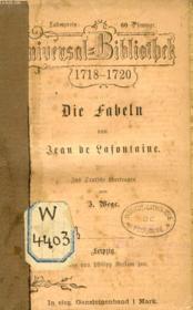 Die Fabeln - Couverture - Format classique