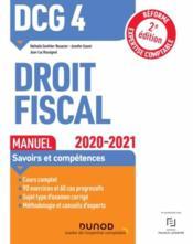 DCG 4 ; droit fiscal ; manuel (édition 2020/2021) - Couverture - Format classique