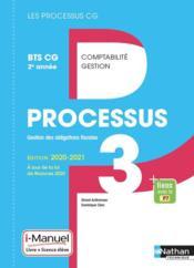 LES PROCESSUS 3 ; BTS CG ; gestion des obligations fiscales ; 2e année (édition 2020) - Couverture - Format classique
