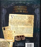 Petit manuel d'initiation au jeu de rôle - 4ème de couverture - Format classique
