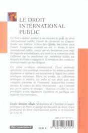 Le Droit International Public - Couverture - Format classique