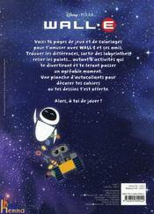 Livre de jeux Wall-E - 4ème de couverture - Format classique