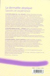 La dermatite atopique savoirs et experience - 4ème de couverture - Format classique