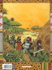 Sur la piste du bongo - 4ème de couverture - Format classique