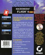 Macromedia flash 4 ; l'expert - 4ème de couverture - Format classique
