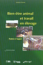 Bien-Etre Animal Et Travail En Elevage. Textes A L'Appui - Intérieur - Format classique