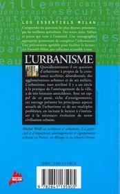 L'urbanisme - 4ème de couverture - Format classique