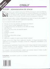 Tcp-Ip Administration De Réseau - 4ème de couverture - Format classique