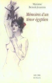 Mémoires d'un ténor égyptien - Intérieur - Format classique