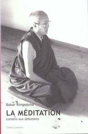 Meditation. conseils aux debutants - Intérieur - Format classique