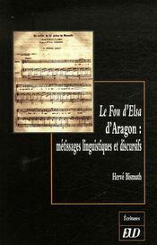Le fou d'elsa d'aragon. métissages linguistiques et discursifs - Intérieur - Format classique