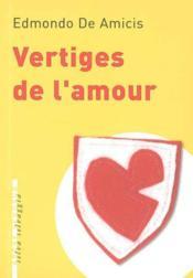 Vertiges De L'Amour - Couverture - Format classique