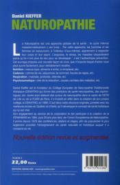 Naturopathie ; la santé pour toujours - 4ème de couverture - Format classique