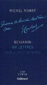 Benjamin ou lettres sur l'inconstance - Couverture - Format classique
